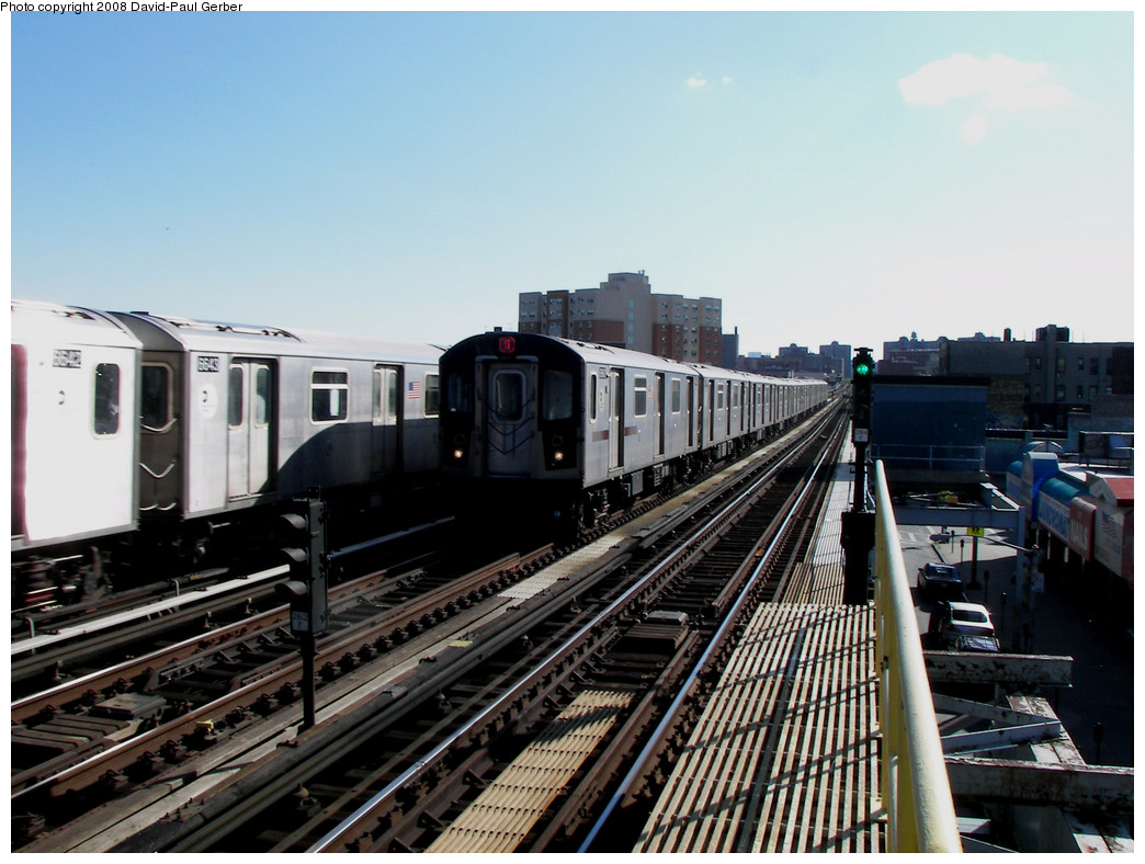 (255k, 1044x788)<br><b>Country:</b> United States<br><b>City:</b> New York<br><b>System:</b> New York City Transit<br><b>Line:</b> IRT White Plains Road Line<br><b>Location:</b> Simpson Street <br><b>Route:</b> 5<br><b>Car:</b> R-142 or R-142A (Number Unknown)  <br><b>Photo by:</b> David-Paul Gerber<br><b>Date:</b> 8/19/2008<br><b>Viewed (this week/total):</b> 2 / 910
