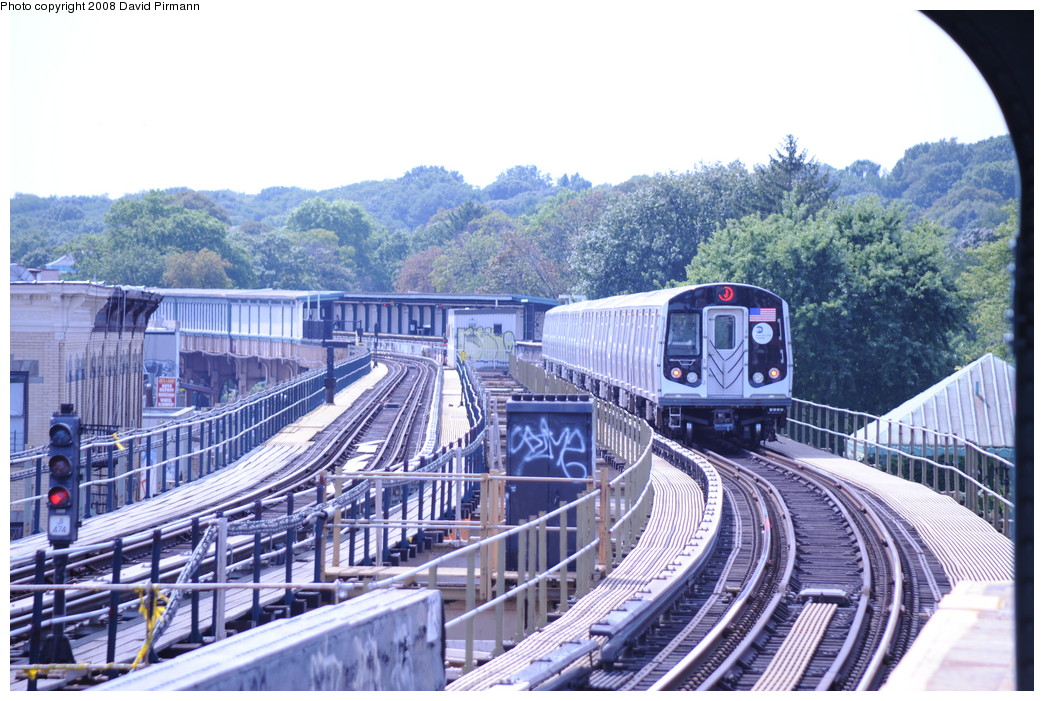 (307k, 1044x701)<br><b>Country:</b> United States<br><b>City:</b> New York<br><b>System:</b> New York City Transit<br><b>Line:</b> BMT Nassau Street/Jamaica Line<br><b>Location:</b> 75th Street/Elderts Lane <br><b>Route:</b> J<br><b>Car:</b> R-160A-1 (Alstom, 2005-2008, 4 car sets)  8344 <br><b>Photo by:</b> David Pirmann<br><b>Date:</b> 8/27/2008<br><b>Viewed (this week/total):</b> 1 / 2343