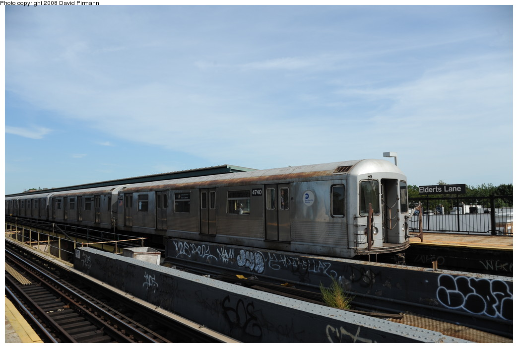 (204k, 1044x701)<br><b>Country:</b> United States<br><b>City:</b> New York<br><b>System:</b> New York City Transit<br><b>Line:</b> BMT Nassau Street/Jamaica Line<br><b>Location:</b> 75th Street/Elderts Lane <br><b>Route:</b> J<br><b>Car:</b> R-42 (St. Louis, 1969-1970)  4740 <br><b>Photo by:</b> David Pirmann<br><b>Date:</b> 8/27/2008<br><b>Viewed (this week/total):</b> 5 / 1034