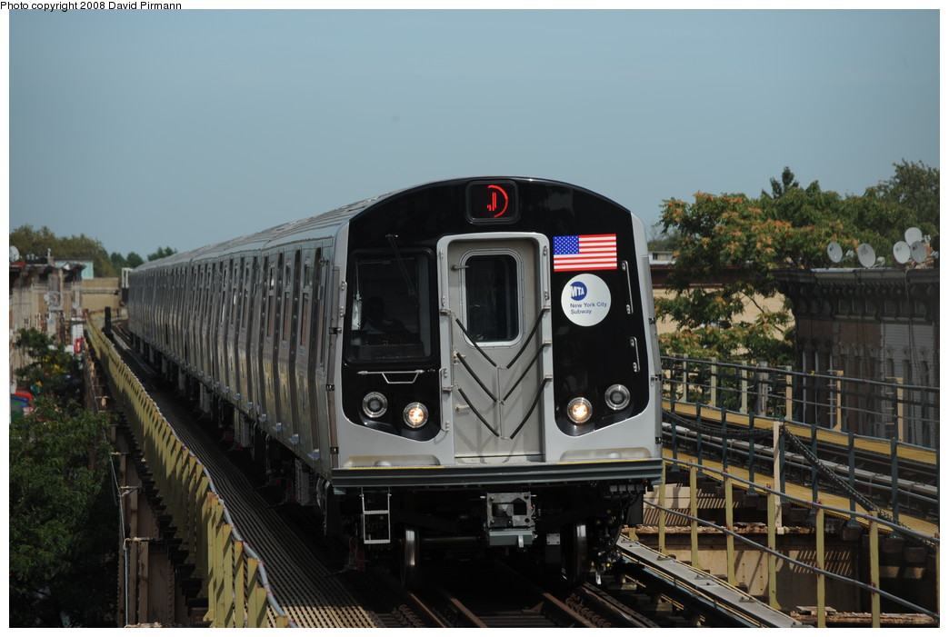(233k, 1044x701)<br><b>Country:</b> United States<br><b>City:</b> New York<br><b>System:</b> New York City Transit<br><b>Line:</b> BMT Nassau Street/Jamaica Line<br><b>Location:</b> 75th Street/Elderts Lane <br><b>Route:</b> J<br><b>Car:</b> R-160A-1 (Alstom, 2005-2008, 4 car sets)  8624 <br><b>Photo by:</b> David Pirmann<br><b>Date:</b> 8/27/2008<br><b>Viewed (this week/total):</b> 0 / 1722