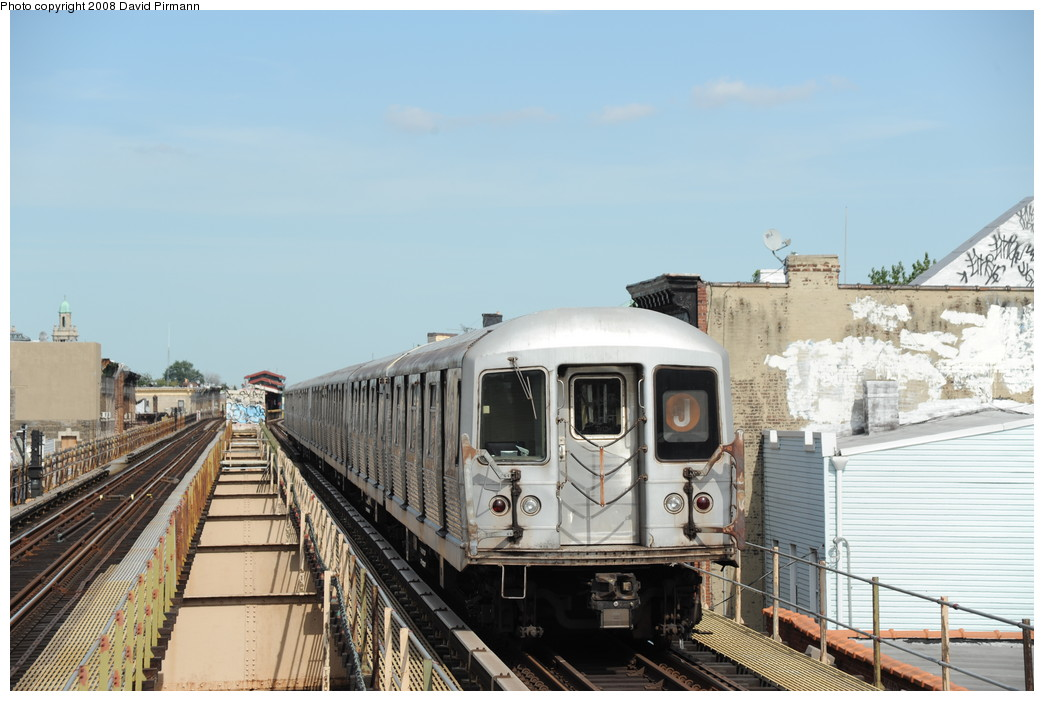 (236k, 1044x701)<br><b>Country:</b> United States<br><b>City:</b> New York<br><b>System:</b> New York City Transit<br><b>Line:</b> BMT Nassau Street/Jamaica Line<br><b>Location:</b> Cleveland Street <br><b>Route:</b> J<br><b>Car:</b> R-42 (St. Louis, 1969-1970)  4760 <br><b>Photo by:</b> David Pirmann<br><b>Date:</b> 8/27/2008<br><b>Viewed (this week/total):</b> 2 / 868