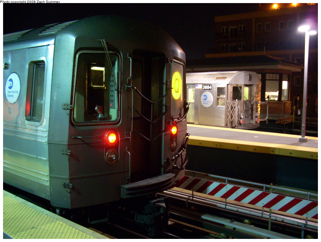 (244k, 1044x788)<br><b>Country:</b> United States<br><b>City:</b> New York<br><b>System:</b> New York City Transit<br><b>Location:</b> Coney Island/Stillwell Avenue<br><b>Route:</b> Q<br><b>Car:</b> R-68A (Kawasaki, 1988-1989)  5200 <br><b>Photo by:</b> Zach Summer<br><b>Date:</b> 7/18/2008<br><b>Notes:</b> With R32 3884 on F<br><b>Viewed (this week/total):</b> 2 / 938