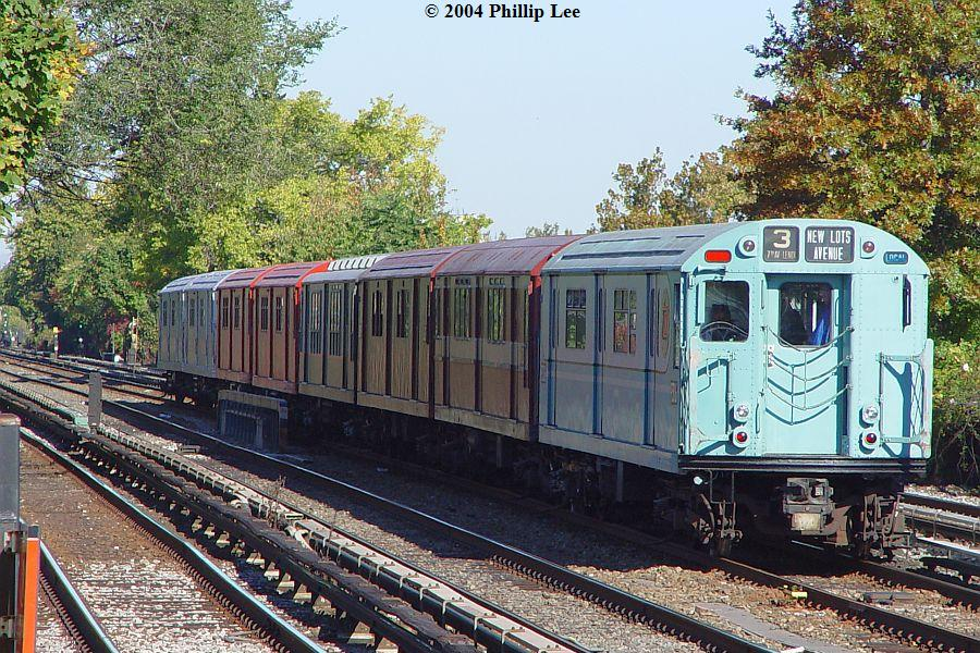 (173k, 900x600)<br><b>Country:</b> United States<br><b>City:</b> New York<br><b>System:</b> New York City Transit<br><b>Line:</b> BMT Brighton Line<br><b>Location:</b> Avenue U <br><b>Route:</b> Fan Trip<br><b>Car:</b> R-33 World's Fair (St. Louis, 1963-64) 9306 <br><b>Photo by:</b> Phillip Lee<br><b>Date:</b> 10/23/2004<br><b>Viewed (this week/total):</b> 1 / 1097