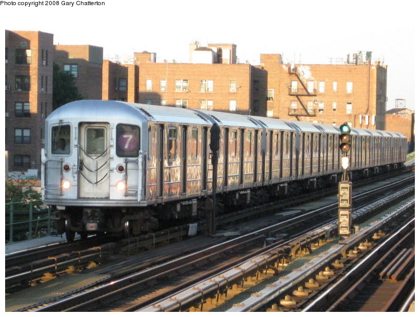(158k, 820x620)<br><b>Country:</b> United States<br><b>City:</b> New York<br><b>System:</b> New York City Transit<br><b>Line:</b> IRT Flushing Line<br><b>Location:</b> 82nd Street/Jackson Heights <br><b>Route:</b> 7<br><b>Car:</b> R-62A (Bombardier, 1984-1987)  1651 <br><b>Photo by:</b> Gary Chatterton<br><b>Date:</b> 8/31/2008<br><b>Viewed (this week/total):</b> 0 / 692