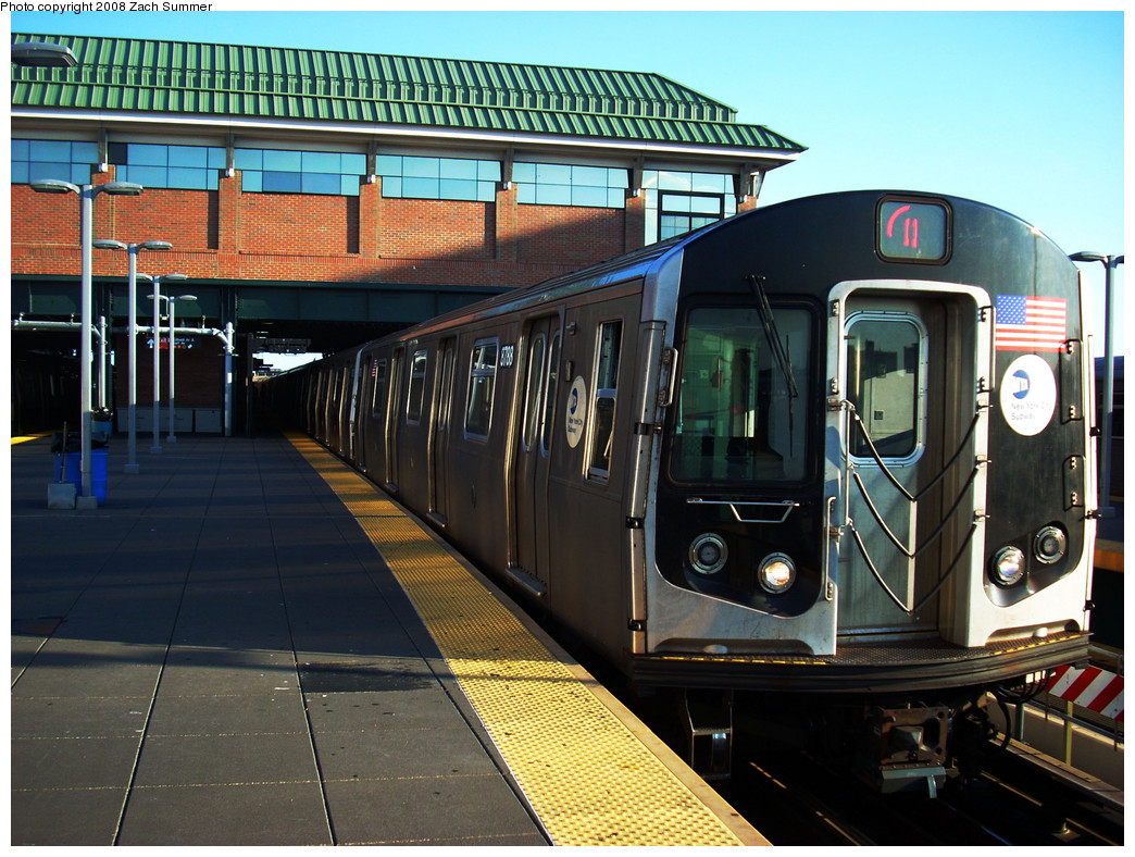 (320k, 1044x788)<br><b>Country:</b> United States<br><b>City:</b> New York<br><b>System:</b> New York City Transit<br><b>Location:</b> Coney Island/Stillwell Avenue<br><b>Route:</b> Q<br><b>Car:</b> R-160B (Kawasaki, 2005-2008)  8788 <br><b>Photo by:</b> Zach Summer<br><b>Date:</b> 8/1/2008<br><b>Viewed (this week/total):</b> 1 / 911
