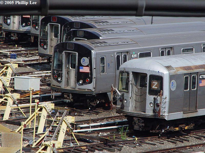 (132k, 800x600)<br><b>Country:</b> United States<br><b>City:</b> New York<br><b>System:</b> New York City Transit<br><b>Location:</b> East New York Yard/Shops<br><b>Car:</b> R-143 (Kawasaki, 2001-2002) 8281 <br><b>Photo by:</b> Phillip Lee<br><b>Date:</b> 8/2/2005<br><b>Viewed (this week/total):</b> 0 / 849