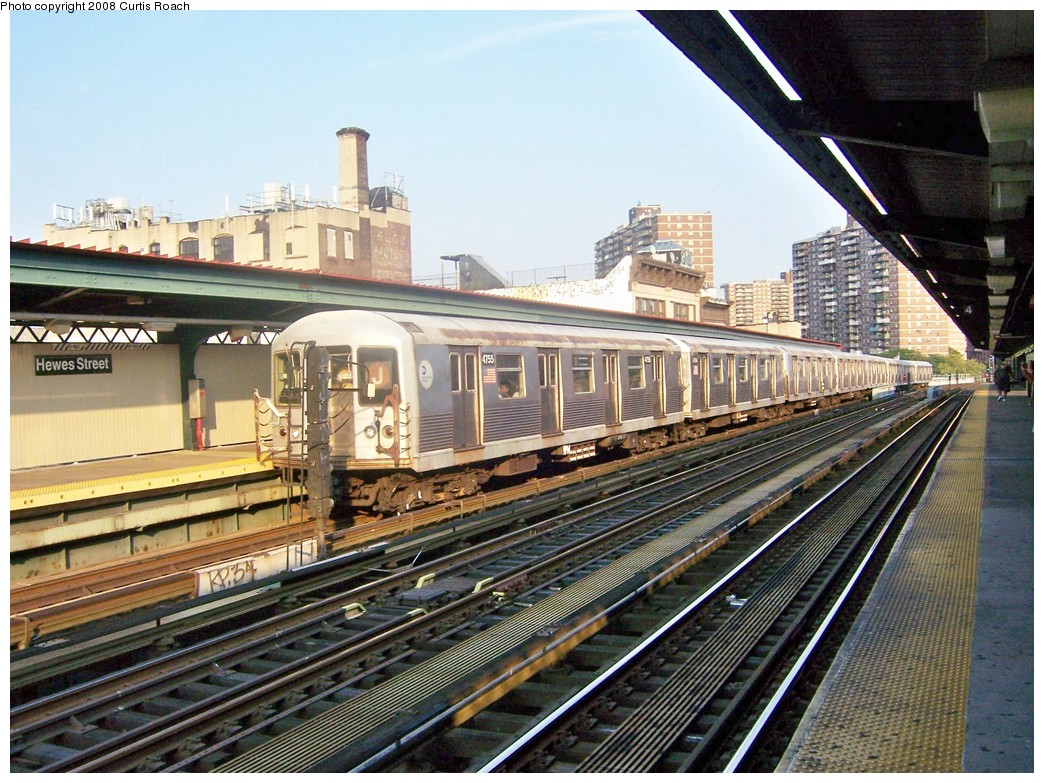 (275k, 1044x783)<br><b>Country:</b> United States<br><b>City:</b> New York<br><b>System:</b> New York City Transit<br><b>Line:</b> BMT Nassau Street/Jamaica Line<br><b>Location:</b> Hewes Street <br><b>Route:</b> J<br><b>Car:</b> R-42 (St. Louis, 1969-1970)  4755 <br><b>Photo by:</b> Curtis Roach<br><b>Date:</b> 9/4/2008<br><b>Viewed (this week/total):</b> 0 / 689