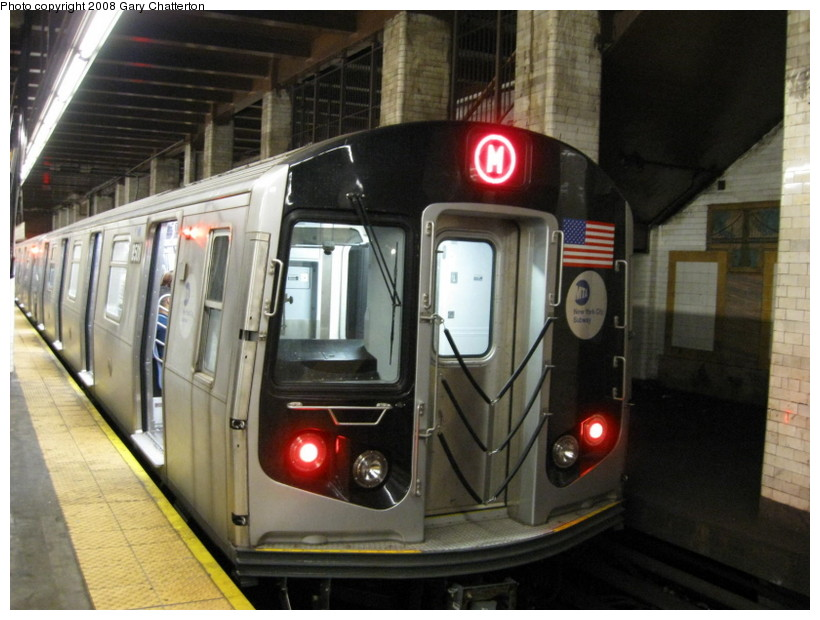 (132k, 820x620)<br><b>Country:</b> United States<br><b>City:</b> New York<br><b>System:</b> New York City Transit<br><b>Line:</b> BMT Nassau Street/Jamaica Line<br><b>Location:</b> Chambers Street <br><b>Route:</b> M<br><b>Car:</b> R-160A-1 (Alstom, 2005-2008, 4 car sets)  8501 <br><b>Photo by:</b> Gary Chatterton<br><b>Date:</b> 9/10/2008<br><b>Viewed (this week/total):</b> 1 / 1732