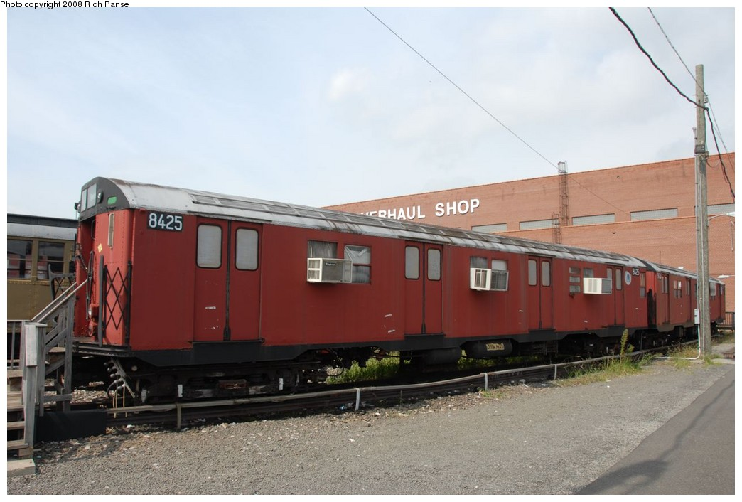 (180k, 1044x706)<br><b>Country:</b> United States<br><b>City:</b> New York<br><b>System:</b> New York City Transit<br><b>Location:</b> Coney Island Yard-Museum Yard<br><b>Car:</b> R-30 (St. Louis, 1961) 8425 <br><b>Photo by:</b> Richard Panse<br><b>Date:</b> 9/13/2008<br><b>Viewed (this week/total):</b> 0 / 1336