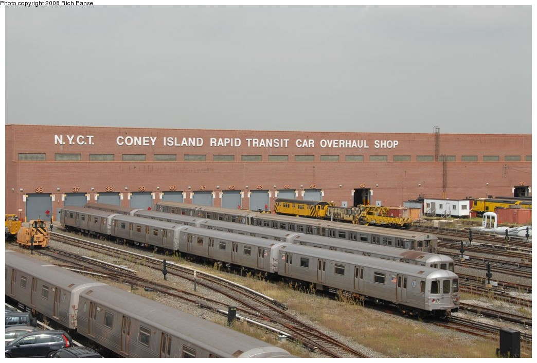 (196k, 1044x706)<br><b>Country:</b> United States<br><b>City:</b> New York<br><b>System:</b> New York City Transit<br><b>Location:</b> Coney Island Yard<br><b>Car:</b> R-46 (Pullman-Standard, 1974-75)  <br><b>Photo by:</b> Richard Panse<br><b>Date:</b> 9/13/2008<br><b>Viewed (this week/total):</b> 1 / 1705