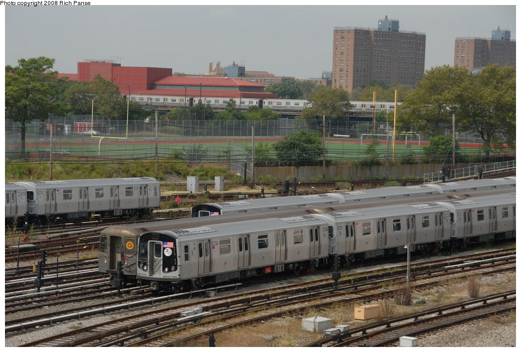(243k, 1044x706)<br><b>Country:</b> United States<br><b>City:</b> New York<br><b>System:</b> New York City Transit<br><b>Location:</b> Coney Island Yard<br><b>Car:</b> R-160B (Option 1) (Kawasaki, 2008-2009)  9027 <br><b>Photo by:</b> Richard Panse<br><b>Date:</b> 9/13/2008<br><b>Viewed (this week/total):</b> 0 / 1750