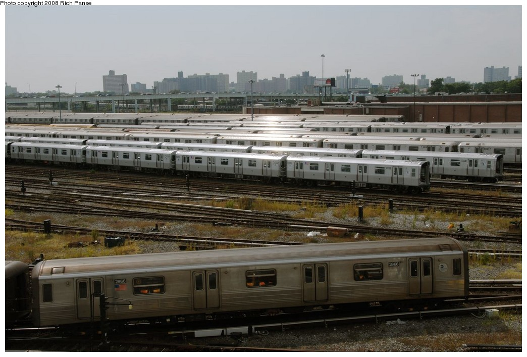 (184k, 1044x706)<br><b>Country:</b> United States<br><b>City:</b> New York<br><b>System:</b> New York City Transit<br><b>Location:</b> Coney Island Yard<br><b>Car:</b> R-68 (Westinghouse-Amrail, 1986-1988)  2866 <br><b>Photo by:</b> Richard Panse<br><b>Date:</b> 9/13/2008<br><b>Viewed (this week/total):</b> 3 / 1856