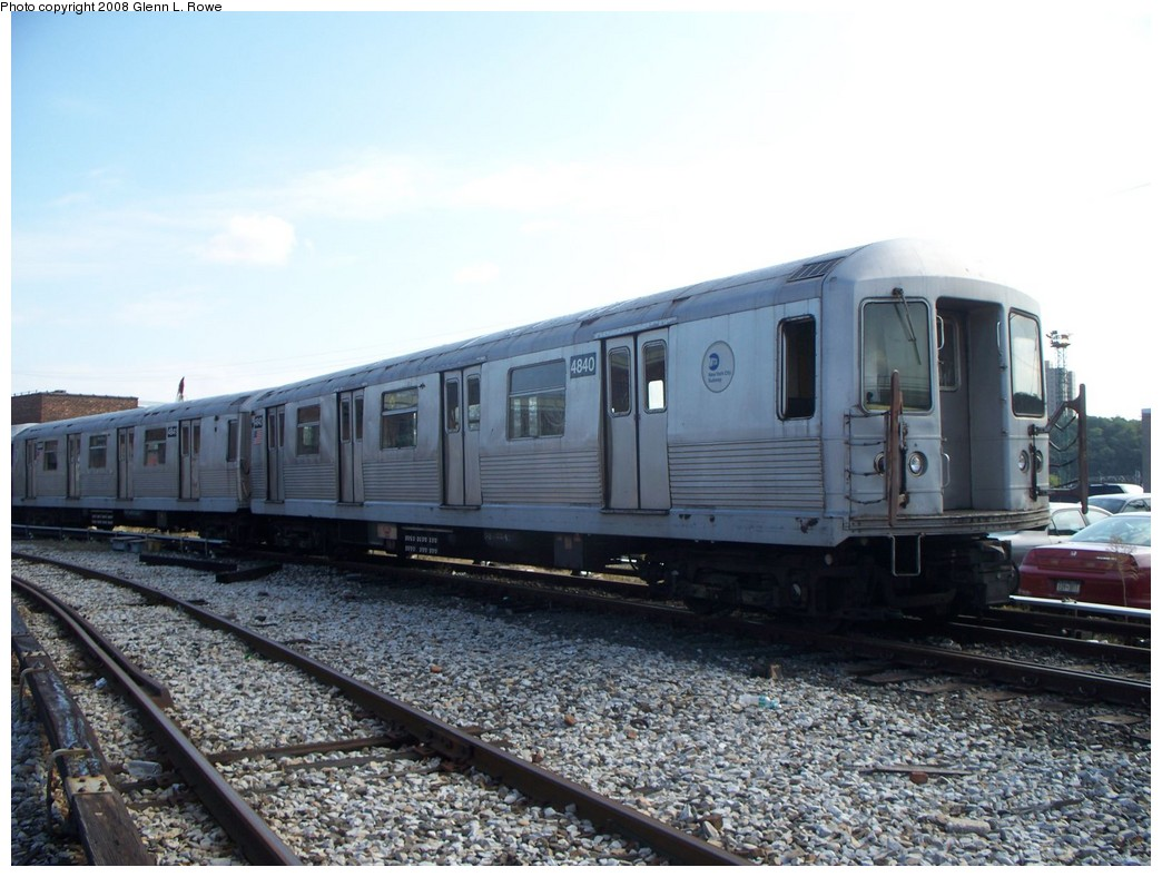 (206k, 1044x788)<br><b>Country:</b> United States<br><b>City:</b> New York<br><b>System:</b> New York City Transit<br><b>Location:</b> 207th Street Yard<br><b>Car:</b> R-42 (St. Louis, 1969-1970)  4840 <br><b>Photo by:</b> Glenn L. Rowe<br><b>Date:</b> 9/30/2008<br><b>Viewed (this week/total):</b> 0 / 1255