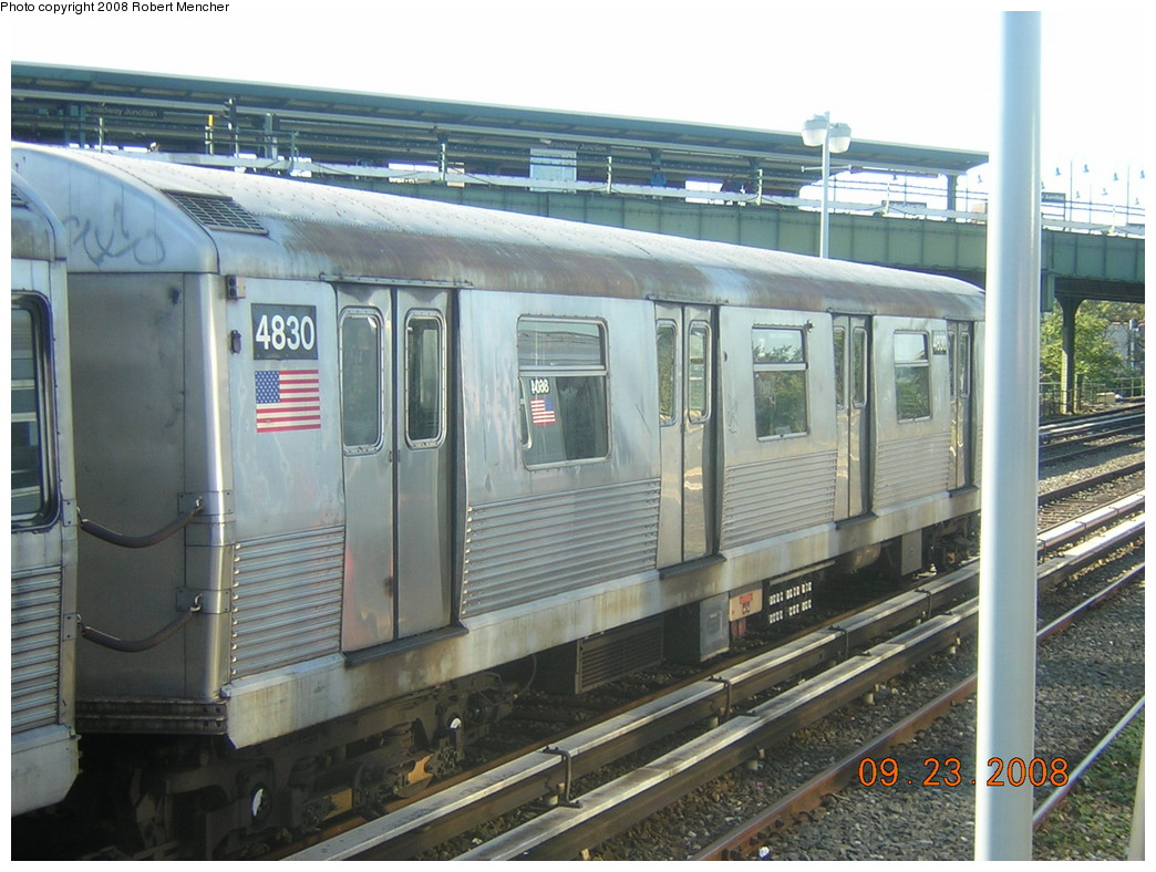 (255k, 1044x788)<br><b>Country:</b> United States<br><b>City:</b> New York<br><b>System:</b> New York City Transit<br><b>Location:</b> East New York Yard/Shops<br><b>Car:</b> R-42 (St. Louis, 1969-1970)  4830 <br><b>Photo by:</b> Robert Mencher<br><b>Date:</b> 9/23/2008<br><b>Viewed (this week/total):</b> 1 / 644