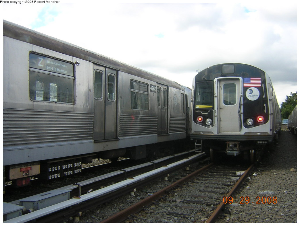 (213k, 1044x788)<br><b>Country:</b> United States<br><b>City:</b> New York<br><b>System:</b> New York City Transit<br><b>Location:</b> East New York Yard/Shops<br><b>Car:</b> R-42 (St. Louis, 1969-1970)  4760 <br><b>Photo by:</b> Robert Mencher<br><b>Date:</b> 9/29/2008<br><b>Viewed (this week/total):</b> 0 / 660