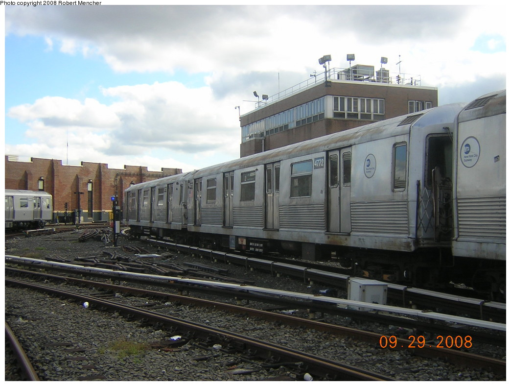 (237k, 1044x788)<br><b>Country:</b> United States<br><b>City:</b> New York<br><b>System:</b> New York City Transit<br><b>Location:</b> East New York Yard/Shops<br><b>Car:</b> R-42 (St. Louis, 1969-1970)  4772 <br><b>Photo by:</b> Robert Mencher<br><b>Date:</b> 9/29/2008<br><b>Viewed (this week/total):</b> 0 / 966