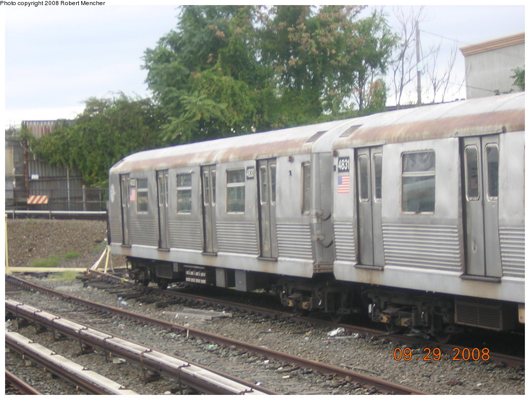 (241k, 1044x788)<br><b>Country:</b> United States<br><b>City:</b> New York<br><b>System:</b> New York City Transit<br><b>Location:</b> East New York Yard/Shops<br><b>Car:</b> R-42 (St. Louis, 1969-1970)  4830 <br><b>Photo by:</b> Robert Mencher<br><b>Date:</b> 9/29/2008<br><b>Viewed (this week/total):</b> 1 / 818
