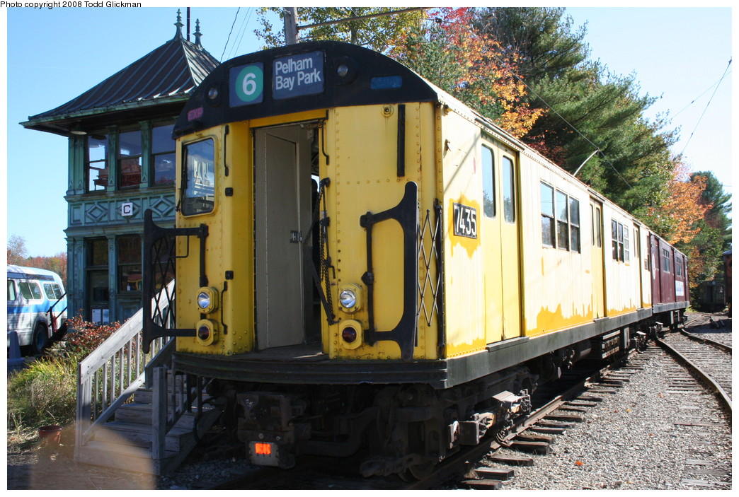 (281k, 1044x703)<br><b>Country:</b> United States<br><b>City:</b> Kennebunk, ME<br><b>System:</b> Seashore Trolley Museum <br><b>Car:</b> R-22 (St. Louis, 1957-58) 37371 <br><b>Photo by:</b> Todd Glickman<br><b>Date:</b> 10/11/2008<br><b>Notes:</b> Car is really 7371 not 7435<br><b>Viewed (this week/total):</b> 2 / 665