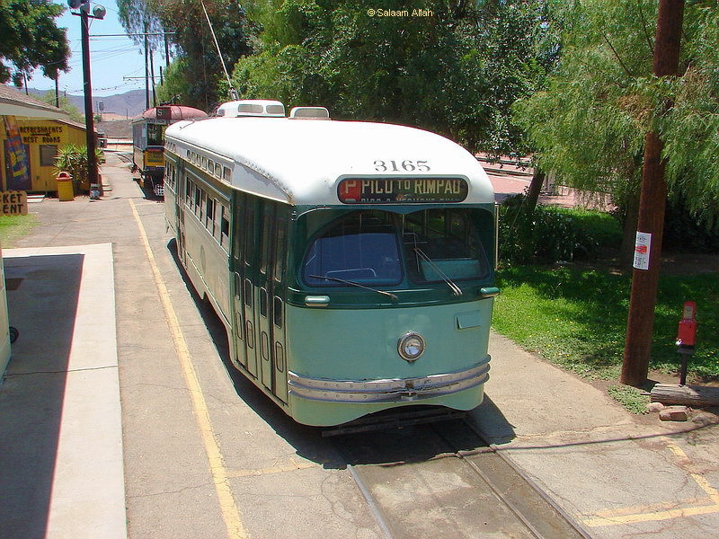 (202k, 800x600)<br><b>Country:</b> United States<br><b>City:</b> Perris, CA<br><b>System:</b> Orange Empire Railway Museum <br><b>Car:</b> PCC  3165 <br><b>Photo by:</b> Salaam Allah<br><b>Date:</b> 7/13/2007<br><b>Viewed (this week/total):</b> 2 / 491