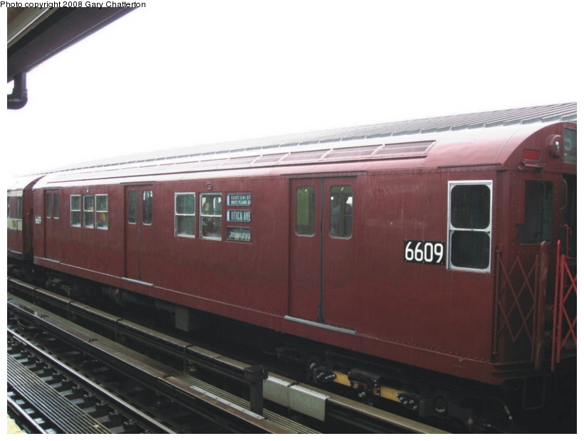 (92k, 820x620)<br><b>Country:</b> United States<br><b>City:</b> New York<br><b>System:</b> New York City Transit<br><b>Line:</b> IRT Flushing Line<br><b>Location:</b> Willets Point/Mets (fmr. Shea Stadium) <br><b>Route:</b> Museum Train Service (7)<br><b>Car:</b> R-17 (St. Louis, 1955-56) 6609 <br><b>Photo by:</b> Gary Chatterton<br><b>Date:</b> 9/28/2008<br><b>Viewed (this week/total):</b> 0 / 700