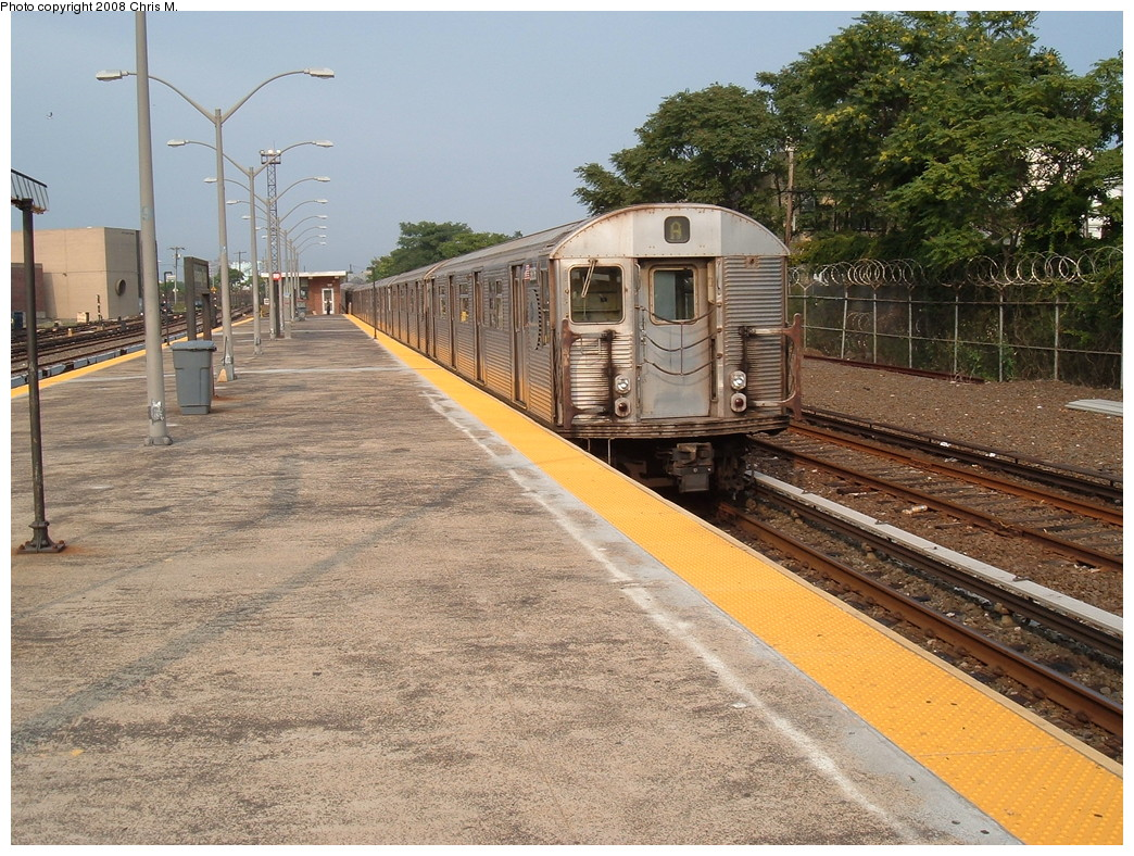 (312k, 1044x788)<br><b>Country:</b> United States<br><b>City:</b> New York<br><b>System:</b> New York City Transit<br><b>Line:</b> IND Rockaway<br><b>Location:</b> Rockaway Park/Beach 116th Street <br><b>Route:</b> A<br><b>Car:</b> R-32 (Budd, 1964)  3836 <br><b>Photo by:</b> Chris M.<br><b>Date:</b> 7/22/2008<br><b>Viewed (this week/total):</b> 0 / 1704