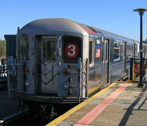 (47k, 600x515)<br><b>Country:</b> United States<br><b>City:</b> New York<br><b>System:</b> New York City Transit<br><b>Line:</b> IRT Brooklyn Line<br><b>Location:</b> Sutter Avenue/Rutland Road <br><b>Route:</b> 3<br><b>Car:</b> R-62A (Bombardier, 1984-1987)  1946 <br><b>Photo by:</b> Professor J<br><b>Date:</b> 10/20/2008<br><b>Viewed (this week/total):</b> 6 / 1596