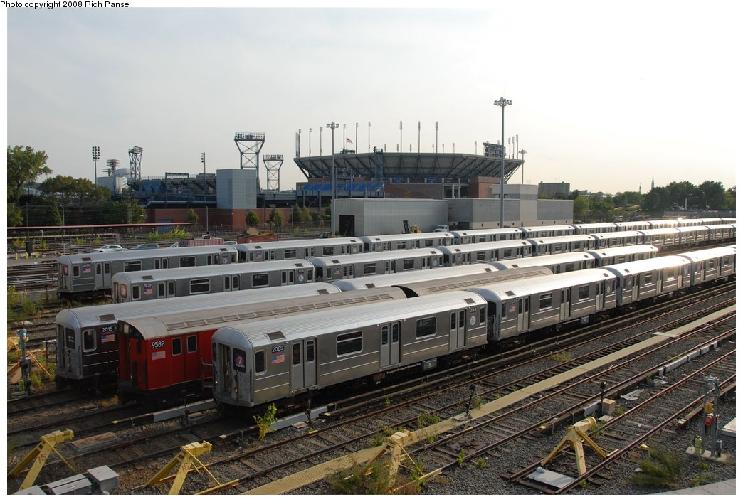 (200k, 1044x706)<br><b>Country:</b> United States<br><b>City:</b> New York<br><b>System:</b> New York City Transit<br><b>Location:</b> Corona Yard<br><b>Car:</b> R-62A (Bombardier, 1984-1987)  2069 <br><b>Photo by:</b> Richard Panse<br><b>Date:</b> 9/24/2008<br><b>Notes:</b> With 9502<br><b>Viewed (this week/total):</b> 1 / 1665