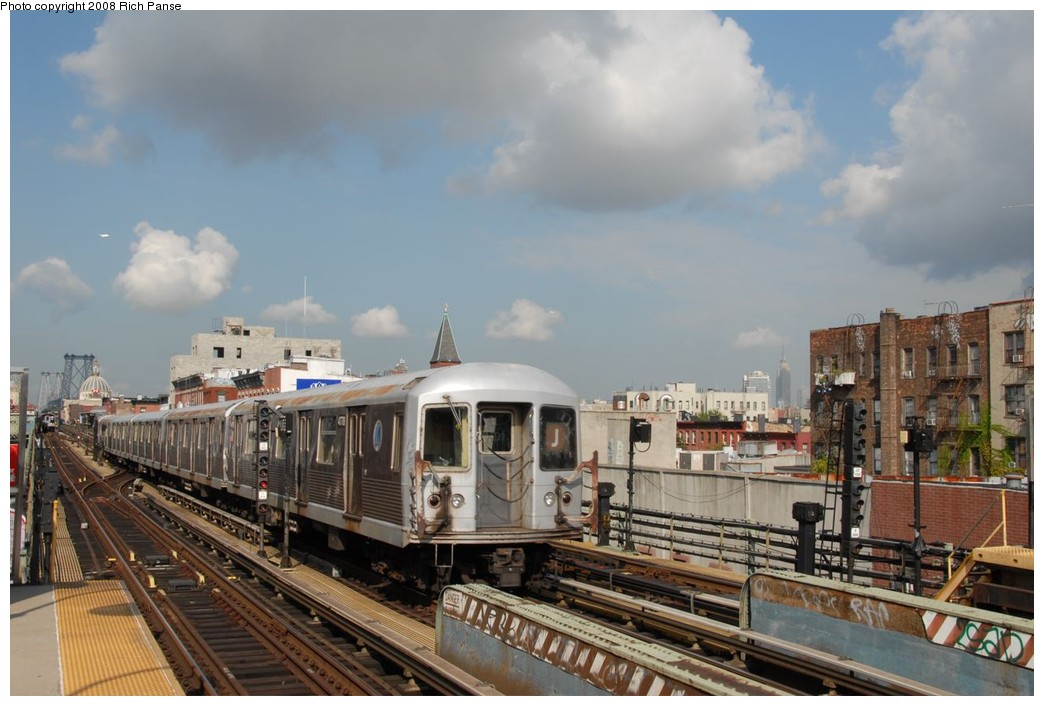 (194k, 1044x706)<br><b>Country:</b> United States<br><b>City:</b> New York<br><b>System:</b> New York City Transit<br><b>Line:</b> BMT Nassau Street/Jamaica Line<br><b>Location:</b> Hewes Street <br><b>Route:</b> J<br><b>Car:</b> R-42 (St. Louis, 1969-1970)  4778 <br><b>Photo by:</b> Richard Panse<br><b>Date:</b> 9/30/2008<br><b>Viewed (this week/total):</b> 1 / 836