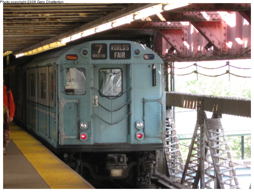 (145k, 820x620)<br><b>Country:</b> United States<br><b>City:</b> New York<br><b>System:</b> New York City Transit<br><b>Line:</b> IRT Flushing Line<br><b>Location:</b> Queensborough Plaza <br><b>Car:</b> R-33 World's Fair (St. Louis, 1963-64) 9306 <br><b>Photo by:</b> Gary Chatterton<br><b>Date:</b> 10/9/2008<br><b>Viewed (this week/total):</b> 2 / 1514