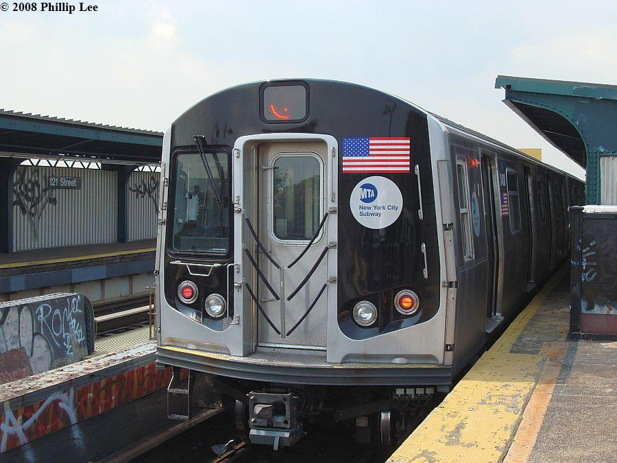 (122k, 900x675)<br><b>Country:</b> United States<br><b>City:</b> New York<br><b>System:</b> New York City Transit<br><b>Line:</b> BMT Nassau Street/Jamaica Line<br><b>Location:</b> 121st Street <br><b>Route:</b> J<br><b>Car:</b> R-160A-1 (Alstom, 2005-2008, 4 car sets)  8400 <br><b>Photo by:</b> Phillip Lee<br><b>Date:</b> 8/14/2008<br><b>Viewed (this week/total):</b> 10 / 1084