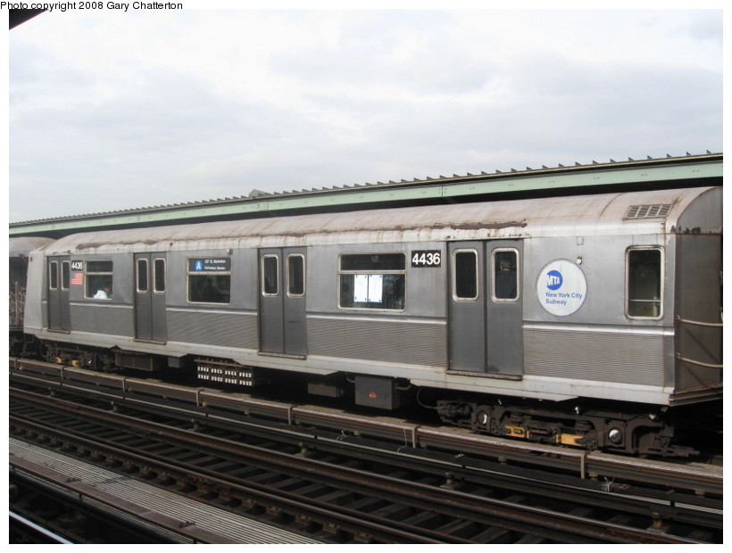 (113k, 820x620)<br><b>Country:</b> United States<br><b>City:</b> New York<br><b>System:</b> New York City Transit<br><b>Line:</b> IND Fulton Street Line<br><b>Location:</b> 80th Street/Hudson Street <br><b>Route:</b> A<br><b>Car:</b> R-40 (St. Louis, 1968)  4436 <br><b>Photo by:</b> Gary Chatterton<br><b>Date:</b> 11/12/2008<br><b>Viewed (this week/total):</b> 1 / 884