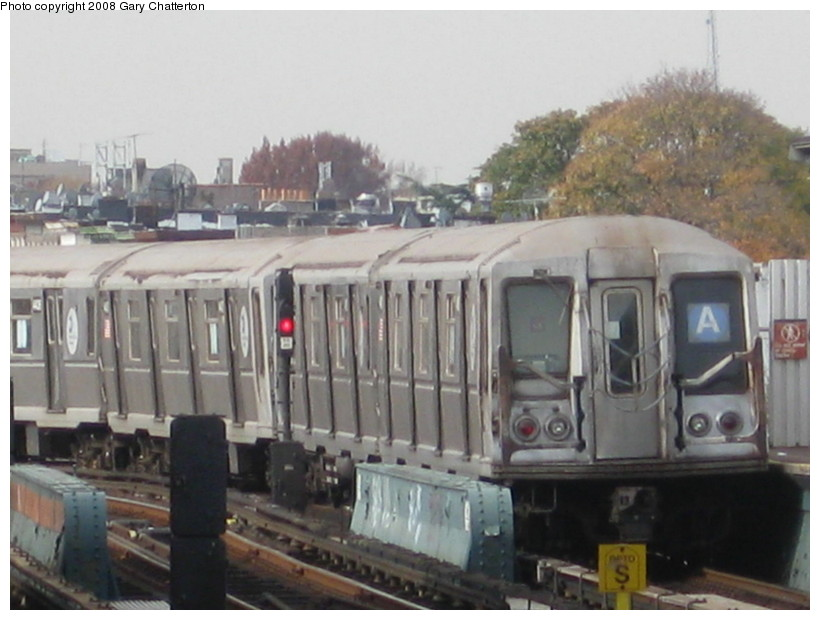 (114k, 820x620)<br><b>Country:</b> United States<br><b>City:</b> New York<br><b>System:</b> New York City Transit<br><b>Line:</b> IND Fulton Street Line<br><b>Location:</b> 80th Street/Hudson Street <br><b>Route:</b> A<br><b>Car:</b> R-40 (St. Louis, 1968)  4418 <br><b>Photo by:</b> Gary Chatterton<br><b>Date:</b> 11/12/2008<br><b>Viewed (this week/total):</b> 1 / 766