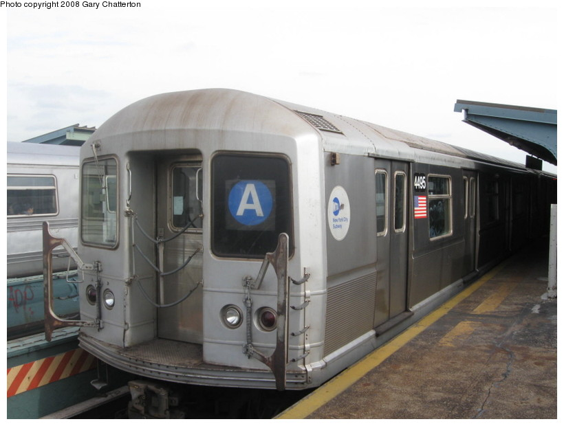 (102k, 820x620)<br><b>Country:</b> United States<br><b>City:</b> New York<br><b>System:</b> New York City Transit<br><b>Line:</b> IND Fulton Street Line<br><b>Location:</b> 80th Street/Hudson Street <br><b>Route:</b> A<br><b>Car:</b> R-40M (St. Louis, 1969)  4495 <br><b>Photo by:</b> Gary Chatterton<br><b>Date:</b> 11/12/2008<br><b>Viewed (this week/total):</b> 1 / 1065