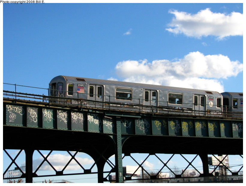 (135k, 820x620)<br><b>Country:</b> United States<br><b>City:</b> New York<br><b>System:</b> New York City Transit<br><b>Line:</b> IRT Flushing Line<br><b>Location:</b> Court House Square/45th Road <br><b>Route:</b> 7<br><b>Car:</b> R-62A (Bombardier, 1984-1987)  2095 <br><b>Photo by:</b> Bill E.<br><b>Date:</b> 11/22/2008<br><b>Viewed (this week/total):</b> 1 / 900