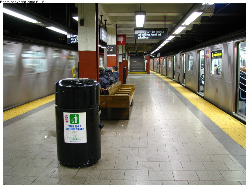 (138k, 820x620)<br><b>Country:</b> United States<br><b>City:</b> New York<br><b>System:</b> New York City Transit<br><b>Line:</b> IRT East Side Line<br><b>Location:</b> Brooklyn Bridge/City Hall <br><b>Photo by:</b> Bill E.<br><b>Date:</b> 11/22/2008<br><b>Viewed (this week/total):</b> 2 / 1730