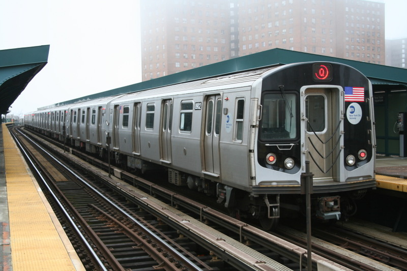 (136k, 800x533)<br><b>Country:</b> United States<br><b>City:</b> New York<br><b>System:</b> New York City Transit<br><b>Line:</b> BMT Brighton Line<br><b>Location:</b> West 8th Street <br><b>Route:</b> Q<br><b>Car:</b> R-160B (Kawasaki, 2005-2008)  8902 <br><b>Photo by:</b> Neil Feldman<br><b>Date:</b> 11/14/2008<br><b>Viewed (this week/total):</b> 0 / 1164