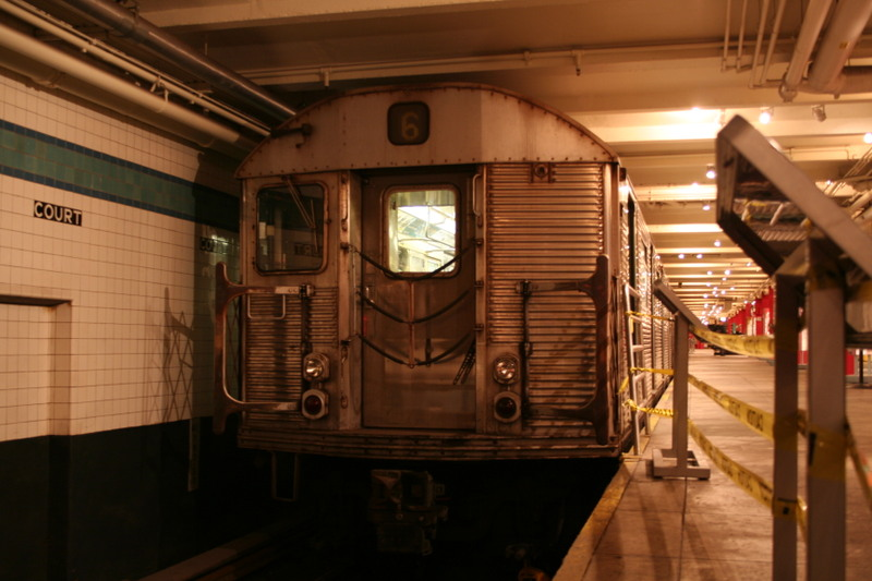 (125k, 800x533)<br><b>Country:</b> United States<br><b>City:</b> New York<br><b>System:</b> New York City Transit<br><b>Location:</b> New York Transit Museum<br><b>Car:</b> R-32 (Budd, 1964)  3352 <br><b>Photo by:</b> Neil Feldman<br><b>Date:</b> 11/14/2008<br><b>Viewed (this week/total):</b> 2 / 2882