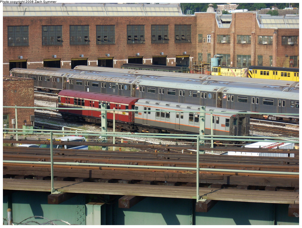 (339k, 1044x788)<br><b>Country:</b> United States<br><b>City:</b> New York<br><b>System:</b> New York City Transit<br><b>Location:</b> 207th Street Yard<br><b>Car:</b> R-15 (American Car & Foundry, 1950) 6235 <br><b>Photo by:</b> Zach Summer<br><b>Date:</b> 8/2/2008<br><b>Notes:</b> With R12 5760<br><b>Viewed (this week/total):</b> 0 / 1094