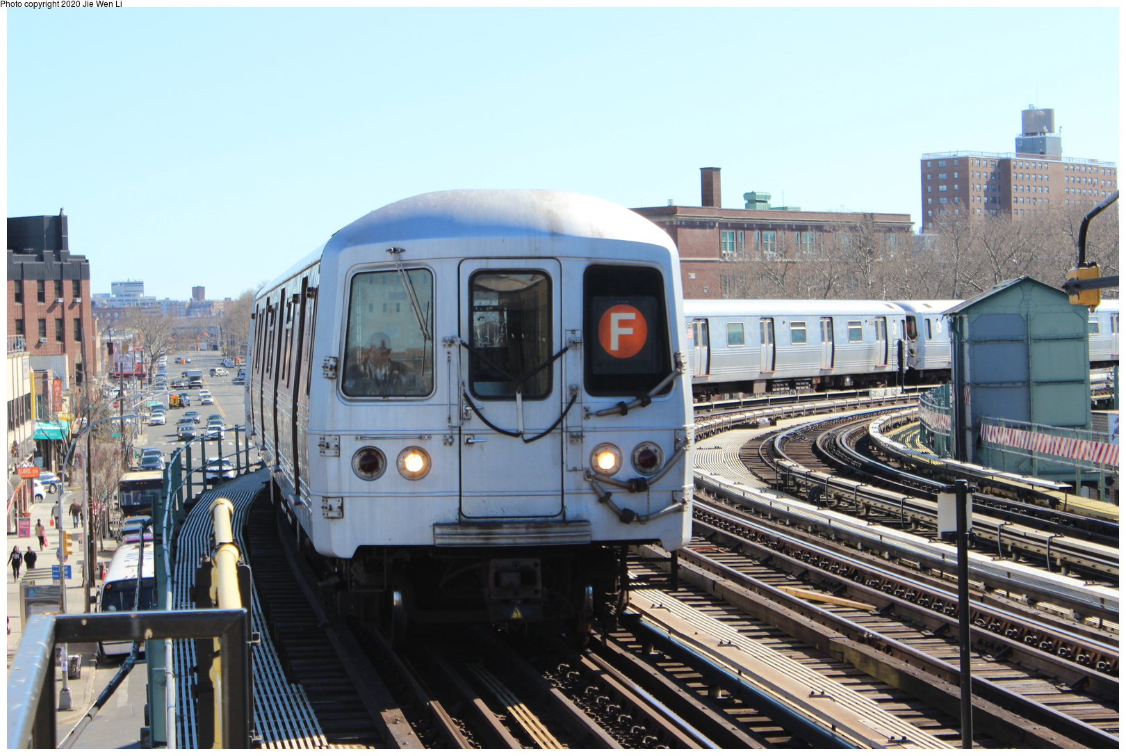 (257k, 1044x706)<br><b>Country:</b> United States<br><b>City:</b> New York<br><b>System:</b> New York City Transit<br><b>Location:</b> 239th Street Yard<br><b>Car:</b> Low-V  <br><b>Photo by:</b> Joel Shanus<br><b>Notes:</b> View facing east; shop building to the right, Furman Ave to photographer's back.<br><b>Viewed (this week/total):</b> 2 / 978