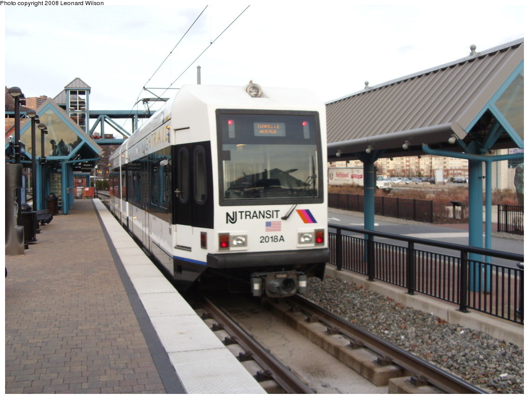 (225k, 1044x788)<br><b>Country:</b> United States<br><b>City:</b> Weehawken, NJ<br><b>System:</b> Hudson Bergen Light Rail<br><b>Location:</b> Port Imperial <br><b>Car:</b> NJT-HBLR LRV (Kinki-Sharyo, 1998-99)  2018 <br><b>Photo by:</b> Leonard Wilson<br><b>Date:</b> 12/5/2008<br><b>Viewed (this week/total):</b> 0 / 370