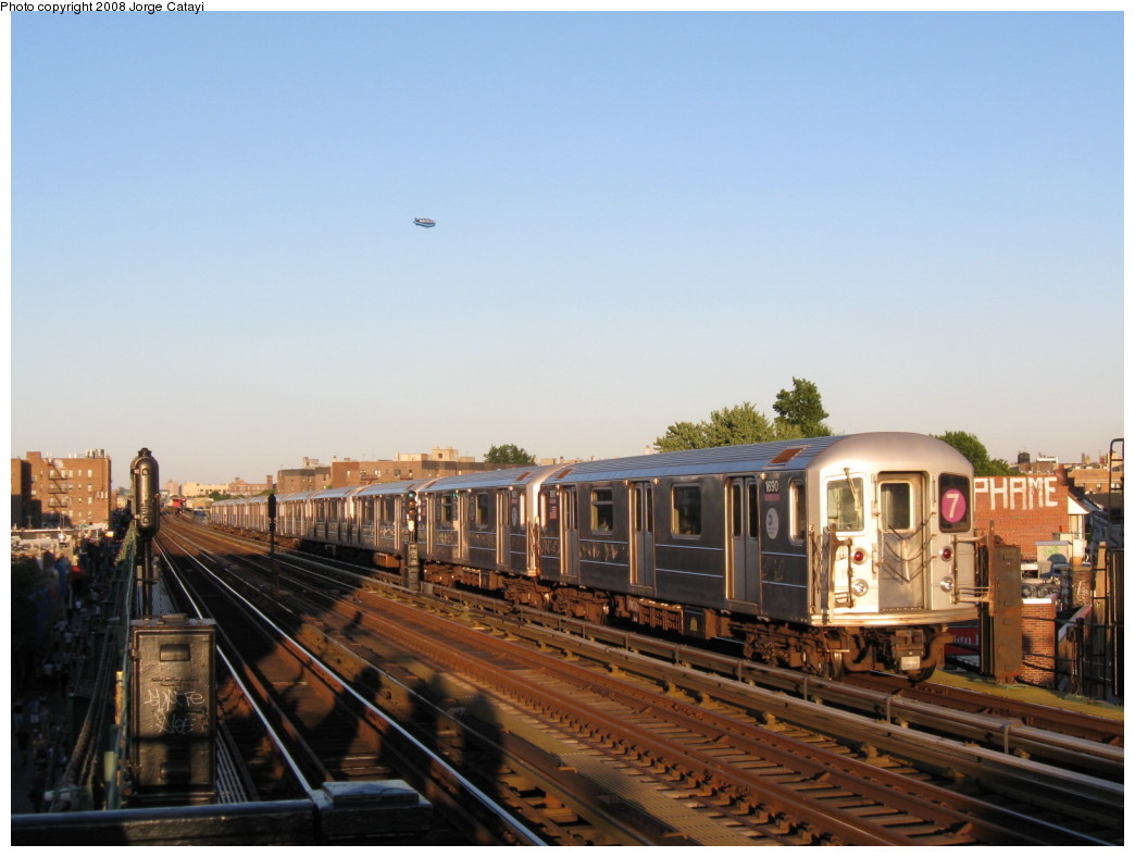 (172k, 1044x788)<br><b>Country:</b> United States<br><b>City:</b> New York<br><b>System:</b> New York City Transit<br><b>Line:</b> IRT Flushing Line<br><b>Location:</b> 82nd Street/Jackson Heights <br><b>Route:</b> 7<br><b>Car:</b> R-62A (Bombardier, 1984-1987)  1690 <br><b>Photo by:</b> Jorge Catayi<br><b>Date:</b> 8/31/2008<br><b>Viewed (this week/total):</b> 2 / 998