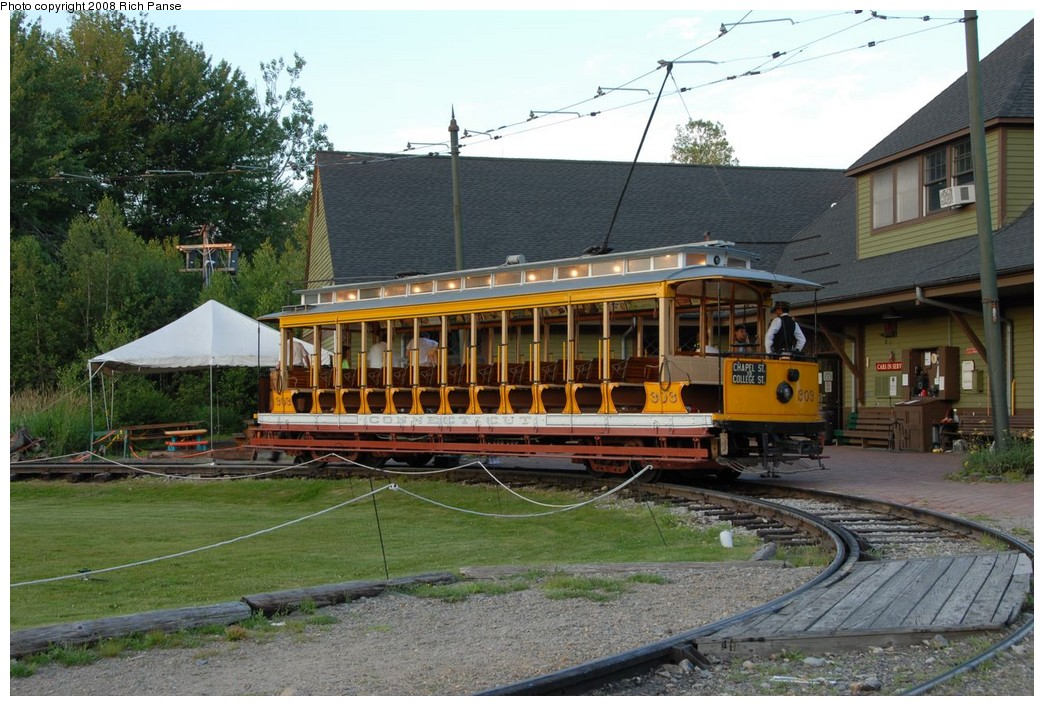 (251k, 1044x706)<br><b>Country:</b> United States<br><b>City:</b> Kennebunk, ME<br><b>System:</b> Seashore Trolley Museum <br><b>Car:</b>  303 <br><b>Photo by:</b> Richard Panse<br><b>Date:</b> 7/17/2008<br><b>Viewed (this week/total):</b> 0 / 548