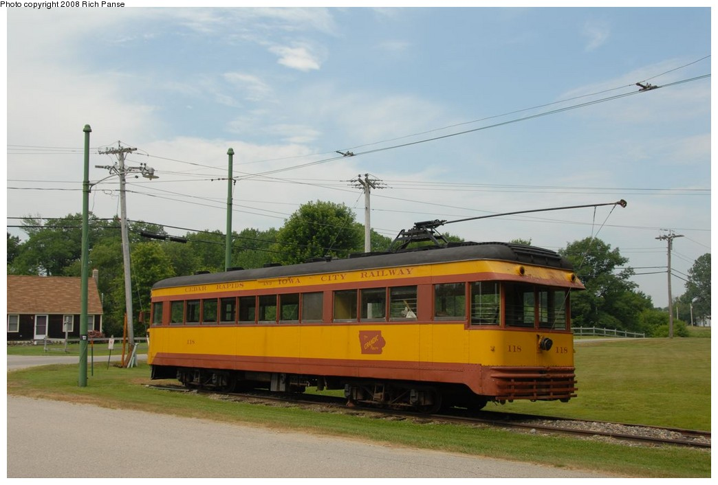 (172k, 1044x706)<br><b>Country:</b> United States<br><b>City:</b> Kennebunk, ME<br><b>System:</b> Seashore Trolley Museum <br><b>Car:</b>  118 <br><b>Photo by:</b> Richard Panse<br><b>Date:</b> 7/18/2008<br><b>Viewed (this week/total):</b> 0 / 297