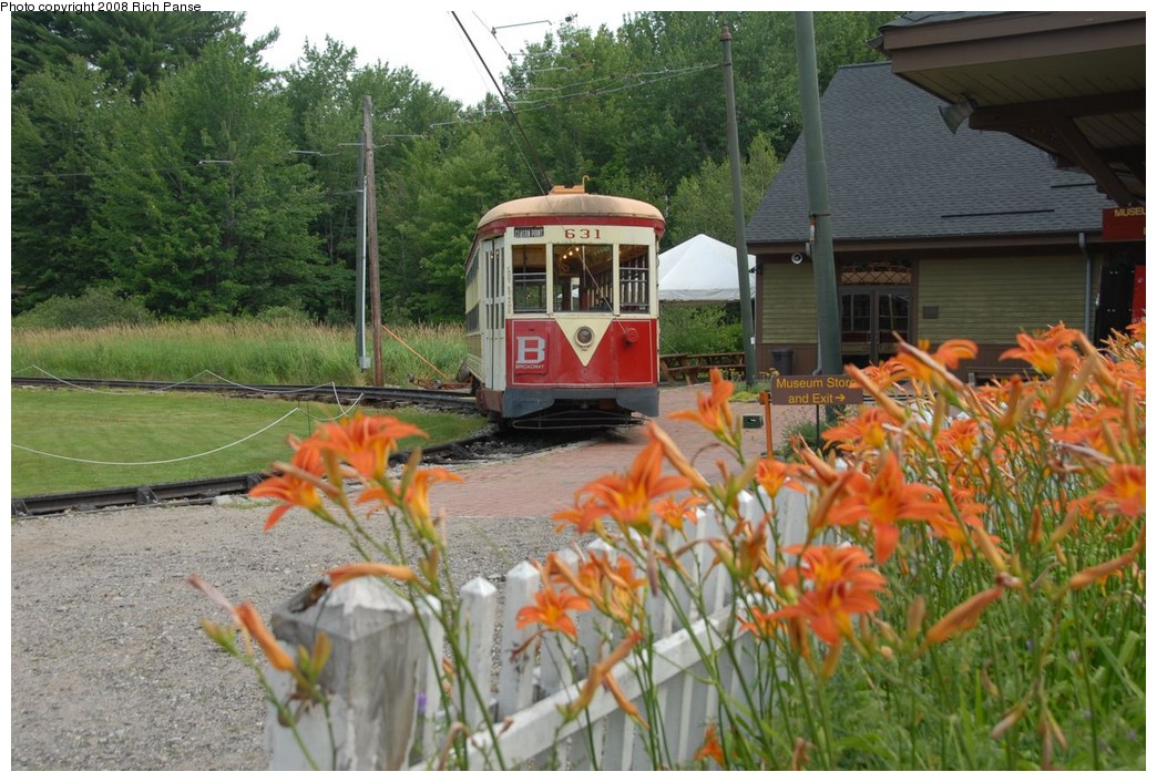 (249k, 1044x706)<br><b>Country:</b> United States<br><b>City:</b> Kennebunk, ME<br><b>System:</b> Seashore Trolley Museum <br><b>Car:</b> TARS 631 <br><b>Photo by:</b> Richard Panse<br><b>Date:</b> 7/18/2008<br><b>Viewed (this week/total):</b> 2 / 378