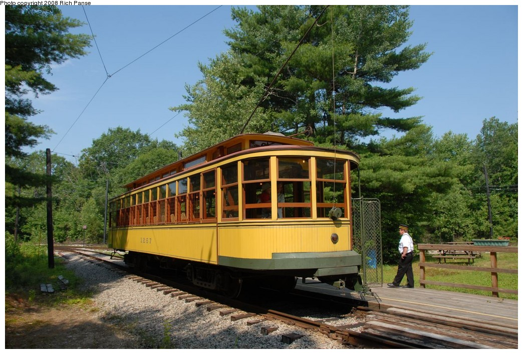 (262k, 1044x706)<br><b>Country:</b> United States<br><b>City:</b> Kennebunk, ME<br><b>System:</b> Seashore Trolley Museum <br><b>Car:</b>  1267 <br><b>Photo by:</b> Richard Panse<br><b>Date:</b> 7/18/2008<br><b>Viewed (this week/total):</b> 2 / 492