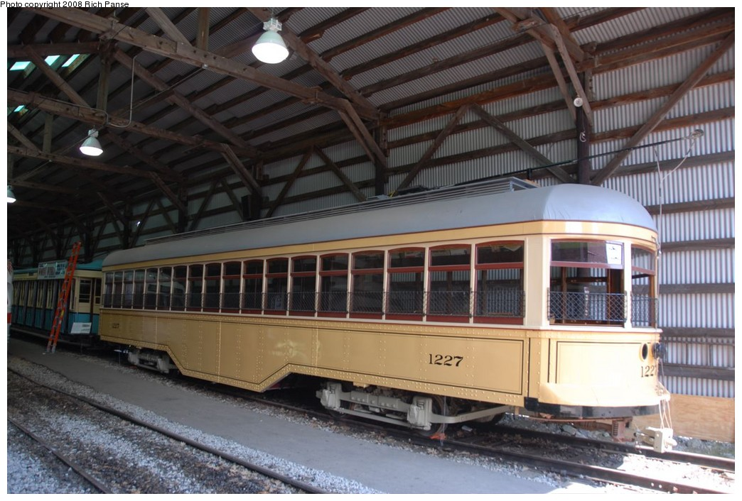 (217k, 1044x706)<br><b>Country:</b> United States<br><b>City:</b> Kennebunk, ME<br><b>System:</b> Seashore Trolley Museum <br><b>Car:</b>  1227 <br><b>Photo by:</b> Richard Panse<br><b>Date:</b> 7/18/2008<br><b>Viewed (this week/total):</b> 1 / 303