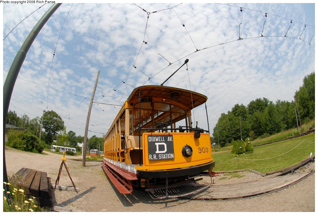 (232k, 1044x706)<br><b>Country:</b> United States<br><b>City:</b> Kennebunk, ME<br><b>System:</b> Seashore Trolley Museum <br><b>Car:</b>  303 <br><b>Photo by:</b> Richard Panse<br><b>Date:</b> 7/18/2008<br><b>Viewed (this week/total):</b> 0 / 235