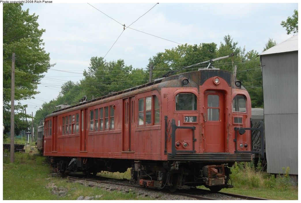 (205k, 1044x706)<br><b>Country:</b> United States<br><b>City:</b> Kennebunk, ME<br><b>System:</b> Seashore Trolley Museum <br><b>Car:</b> PTC/SEPTA B-2 DRPA Bridge Line (J.G. Brill, 1936)  1018 <br><b>Photo by:</b> Richard Panse<br><b>Date:</b> 7/18/2008<br><b>Viewed (this week/total):</b> 0 / 630