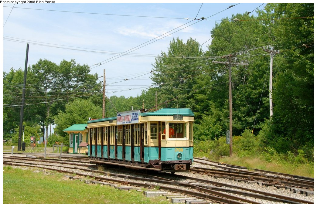 (265k, 1044x682)<br><b>Country:</b> United States<br><b>City:</b> Kennebunk, ME<br><b>System:</b> Seashore Trolley Museum <br><b>Car:</b>  1700 <br><b>Photo by:</b> Richard Panse<br><b>Date:</b> 7/18/2008<br><b>Viewed (this week/total):</b> 1 / 405