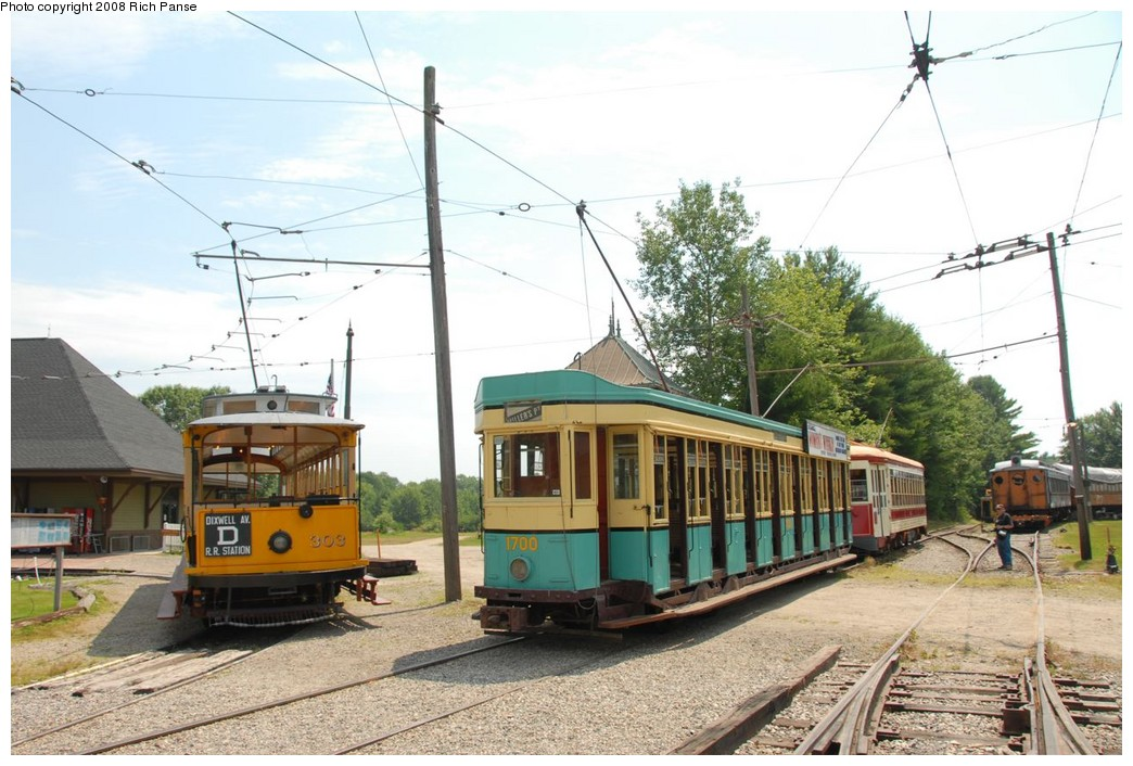 (224k, 1044x706)<br><b>Country:</b> United States<br><b>City:</b> Kennebunk, ME<br><b>System:</b> Seashore Trolley Museum <br><b>Car:</b>  303/1700 <br><b>Photo by:</b> Richard Panse<br><b>Date:</b> 7/18/2008<br><b>Viewed (this week/total):</b> 1 / 244